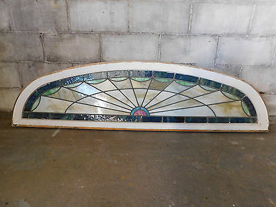 Antique Arch Top Church Stained Glass Window - C. 1915 Architectural Salvage