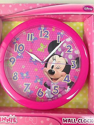 """Disney Minnie Mouse 9.75"""" Pink Round Wall Clock"""