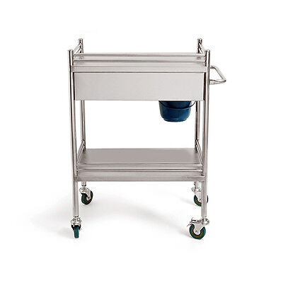 Big Drawer Super Portable Medical Dental Lab Cart Trolley Stainless Steel H215
