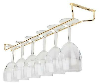 "Brass Glass Hanger Wine Glass Storage Rack Bar Glass Hanging Rail 10"" 16""  24"""