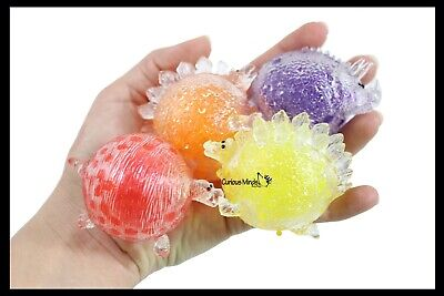 Sensory ot 6 Small Fruit Water Bead Filled Squeeze Stress Balls with Faces