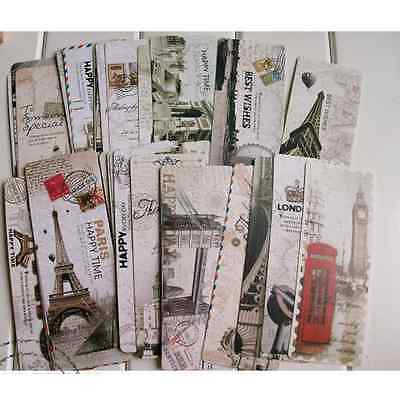 30 Pcs Creative Bookmarks Note Pad Memo Label Stationery Book Mark Birthday Gift