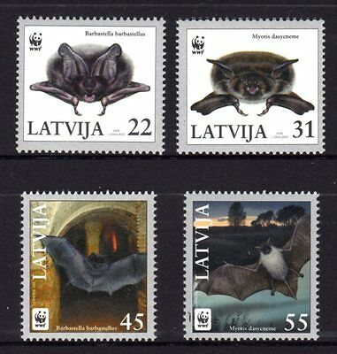 Latvia 2008 Bats Set 4 MNH