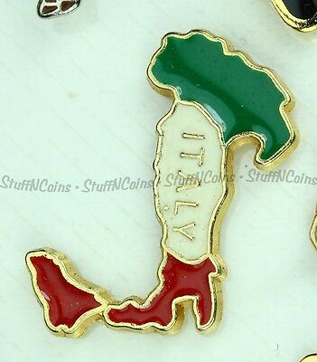 ITALY COUNTRY - VINTAGE LAPEL PIN red green white