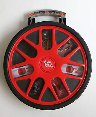 Speed Racer Hot Wheels 7 Car Rotating Carry Storage Case with 6 Cars