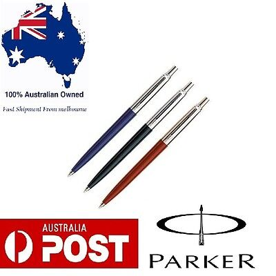 Parker Jotter Standard CT Ball Pen Set of 3 Black Blue Red Brand new Gift Box