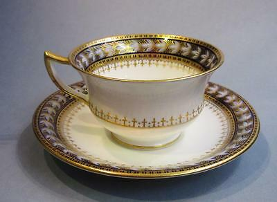 Beautiful vintage Aynsley England cup and saucer, hand decorated gold trim.