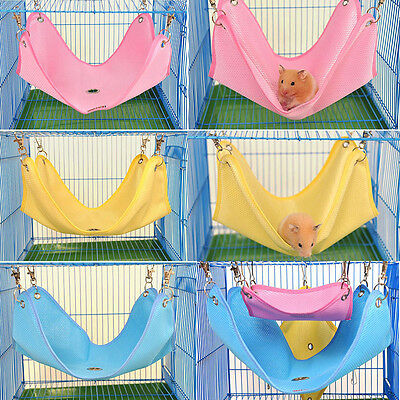 Breathable Mesh Pet Hammock Cage House Hanging Bed For Rat Hamster Ferret Mouse