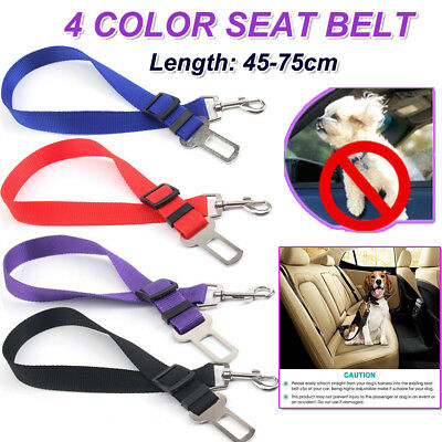 New Adjustable Dog Cat Pet Puppy Car Safety Seat Belt Seatbelt Harness 4 Colors