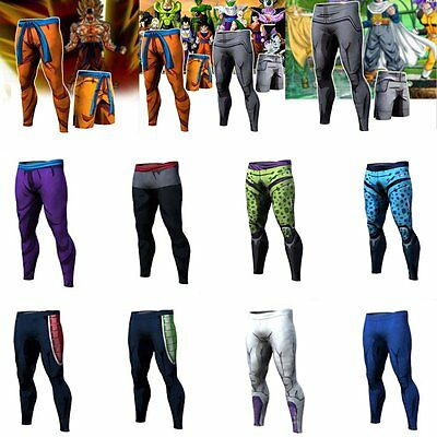 Dragon Ball Z Trainning Gym Sport Goku Long Pants Fitted Joggers Out Trousers