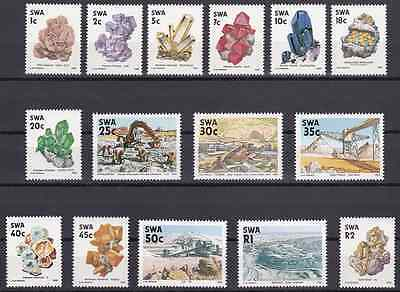 SOUTH-WEST AFRICA - 1989 - Minerals & Mining. Complete set, 15v. Mint NH
