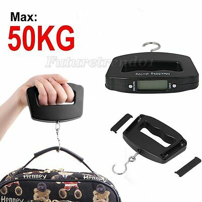 New 50kg/10g Digital LCD Portable Electronic Hanging Hook Luggage Scale Weight