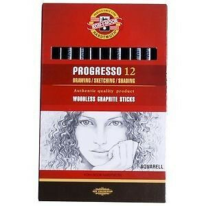Koh-I-Noor - Progresso Aquarell 12 Woodless Graphite Pencils