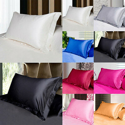 100% Silk Housewife Pillowcase Pillowcase Smooth Cover Fit Standard Queen King