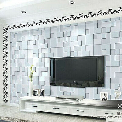 Modern Simple 3D mosaic living room non-woven wallpaper background clothing 10M