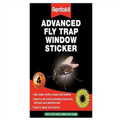 Rentokil Fw35 Window Fly Traps Insecticide Free Ideal For All Rooms In The Home