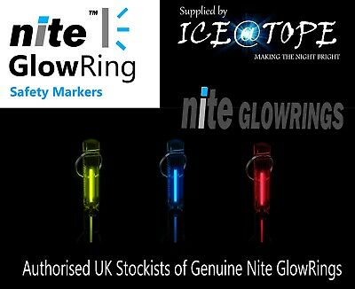 GENUINE NITE GLOWRING Glow In The Dark KEYRING TRITIUM ICE@TOPE Fishing Camping