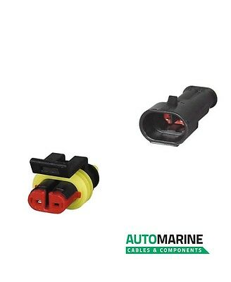 Auto Marine SS2F & SS2M, Male + Female 2 terminal Superseal 1.50mm Plug & Socket
