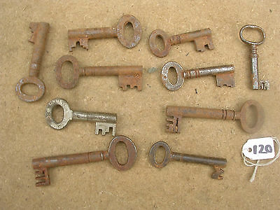 Job Lot Of Antique Box Keys