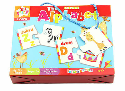 ALPHABET PUZZLE 52 PIECES LEARN & Play LETTERS gift NURSERY 3+ kids children