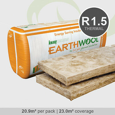 R1.5 | 430mm Knauf Earthwool Thermal Wall Insulation Batts (20.9m2 per pack)