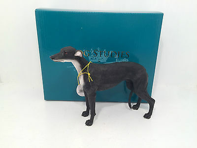 Dog Studies by Black Greyhound Figurine Ornament *BRAND NEW BOXED*