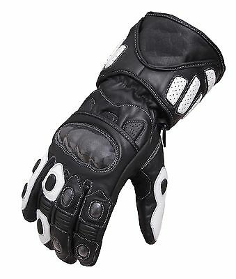 Waterproof Motorcycle Motobike Scooter Leather Sports Long Gloves Windproof