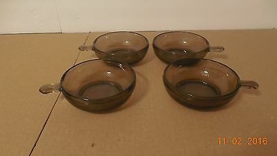 Brown Glass Set Of 4 Individual Casserole Pans