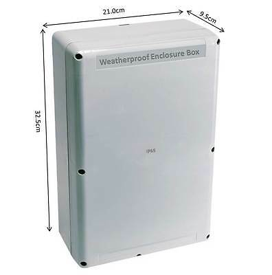 Large Weatherproof Enclosure Box for Electrical Power Connections for ponds etc