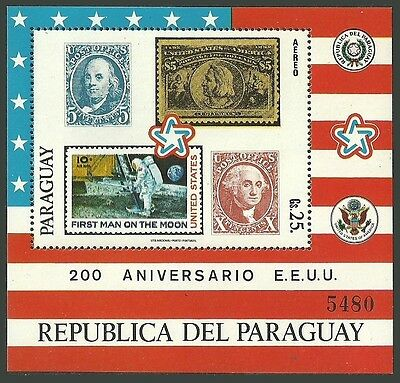 Paraguay 1976 Usa Bicentenary Independence Stamp On Stamp Space M/sheet Mnh