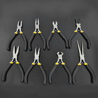 New Jewellery Making Beading Mini Pliers Tools Kit Set Round Flat Long Nose SM