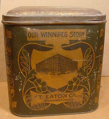Vintage Large T Eaton Company Tea & Coffee Tin Our Winnipeg Store