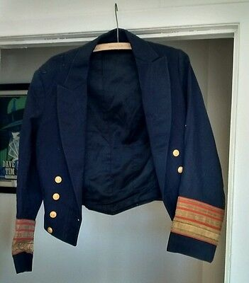 Early 1900s Antique A.W. Tams Original Nautical Skipper Captains Jacket Costume