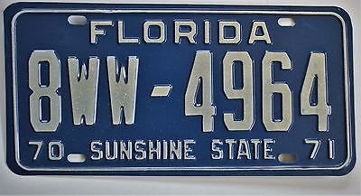1970 Florida License Plate 8WW-4964