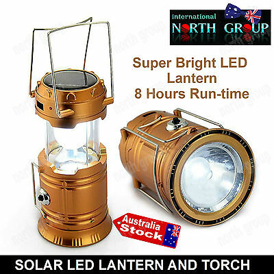 Solar Rechargeable Led Torch Lantern Phone Charger Camping, Fishing, Blackout