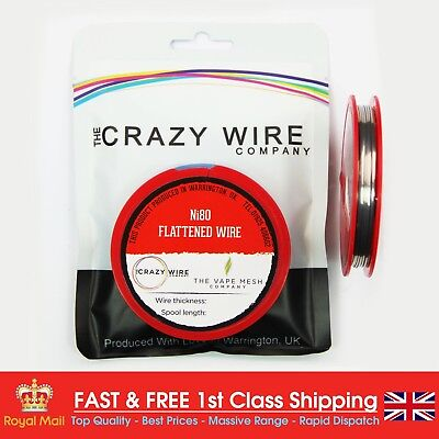 24 AWG (0.68mm x 0.3mm) - Ni80  Flattened Wire - 5.34 ohms/m - 10 Metre Spool