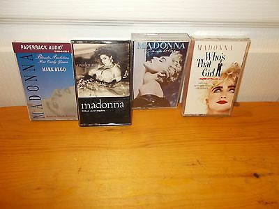 Lot of 4 Cassettes featuring MADONNA