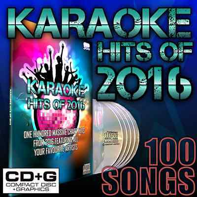 Mr Entertainer Karaoke Chart Hits of 2016, CD+G Disc Set, 100 Songs
