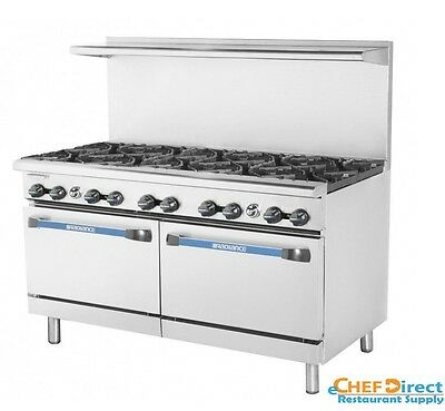 "Turbo Air TAR-10 Radiance 60"" 10 Burner Gas Range With Standard Oven"