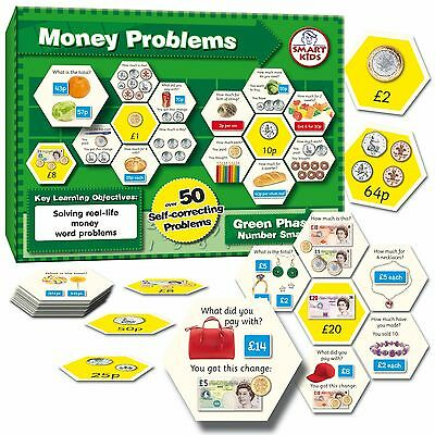 Smart Kids Money Problems Matching Game Educational Maths Brand New