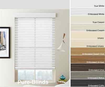 Quality Faux Wood Venetian Blinds Made to Measure 35mm or 50mm Cheapest On Ebay