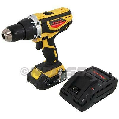 18V Hammer Cordless Drill. Li-ion Battery. Fast Charger. 13mm Chuck. New