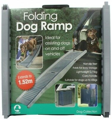 Folding Dog Ramp Travel Extendable Car Pet Light Portable Easy Mobility Access
