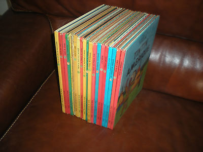Tintin - Lot De 19 Tomes Editions Annees 70/80