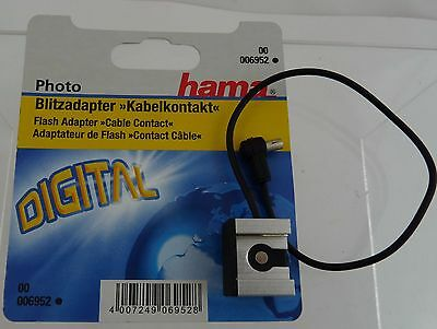 Hama Flash adapter cable 000 6952 hot shoe to cable contact socket **NEW**