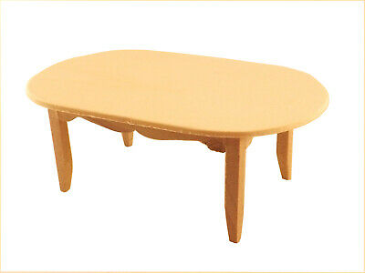 Unfinished Wood Pine Coffee Table Dollhouse Miniature Furniture