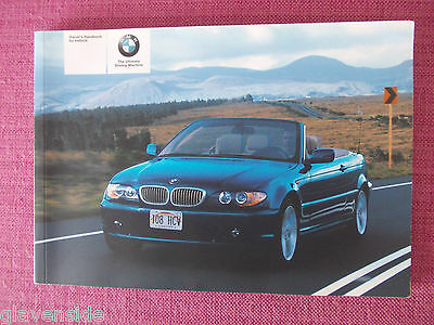 Bmw 3 Series Convertible/cabriolet Handbook - Owners Manual - Guide (Bm 499)
