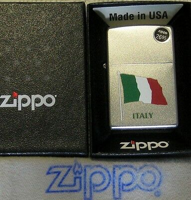 ZIPPO  ITALY  FLAG  Lighter  GREEN  WHITE  RED   Mint In Box  NEW old STOCK