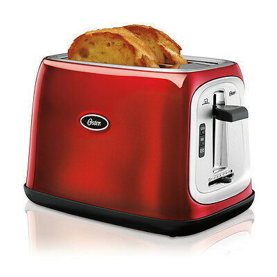 Oster 2 Slice Extra-Wide Slot Toaster, Metallic Red TSSTTRJB07-033