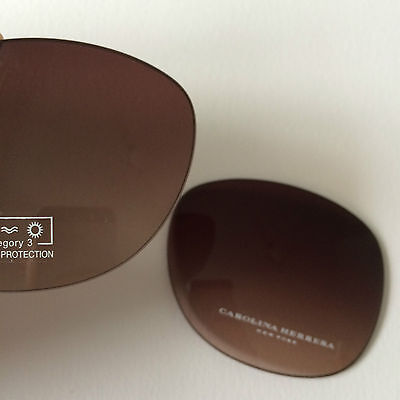 New 100% Official Carolina Herrera CH-406 (62x17) lenses in Brown Gradient